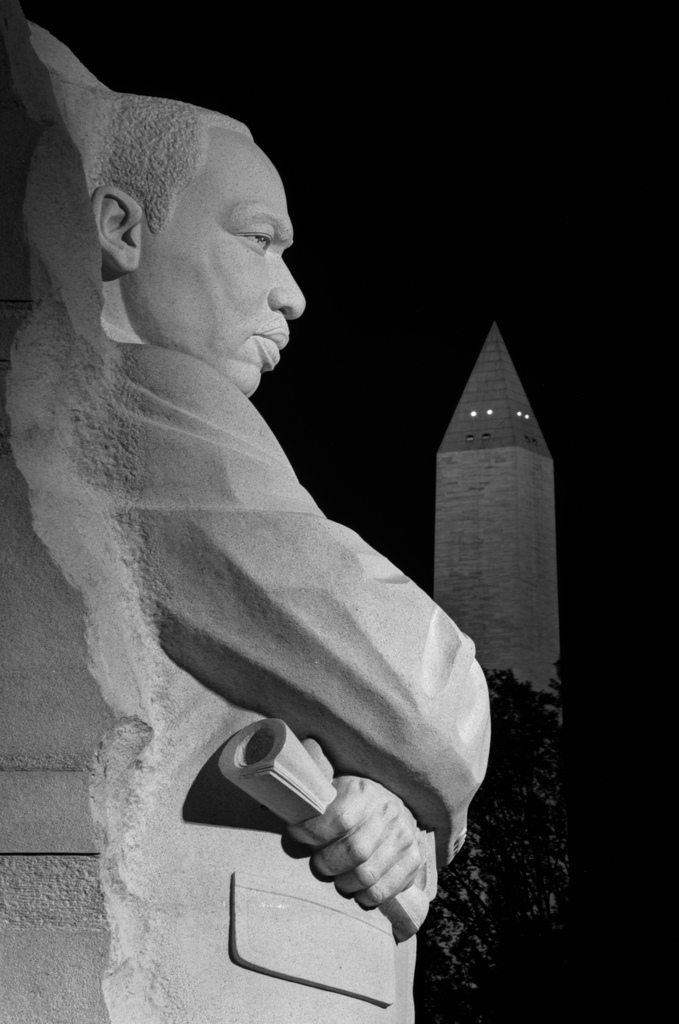 The MLK monument in Washington, DC